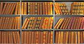 Archiv der alten Probate Bücher In einer Bibliothek