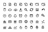 Set de iconos Simple documento