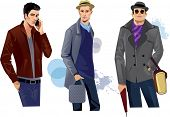 fashionable men in coat