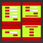 Forms And Buttons For The Website