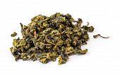 Folhas de chá oolong seco