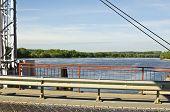 Pontoon Bridge On The River Oka