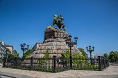 image of bohdan  - Historic monument to Hetman Bogdan Khmelnitsky on Sofia square in Kiev Ukraine - JPG