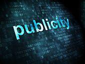 Marketing concept: Publicity on digital background