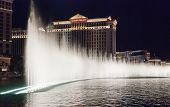Las Vegas, Usa - The Bellagio Fountains At Night