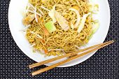 image of lo mein  - chinese cuisine deep stir - JPG