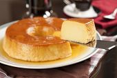 foto of brazilian food  - Pudim a delicious brazilian dessert made from condensed milk - JPG
