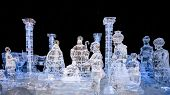 Nativity Scene Ice Sculpture