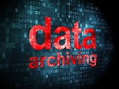 Information concept: Data Archiving on digital background