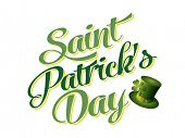 stock photo of ireland  - Typographic Saint Patricks Day Card - JPG