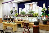 stock photo of funeral home  - Funeral home interior of traditional japanese style - JPG