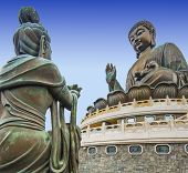 Big Buddha of Lantau Island in Hong Kong, China.