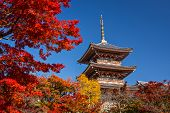 Kiyomizu Temple in Kyoto, Japan.