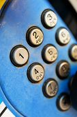 pic of dial pad  - Detail of a phone street key pad.
