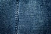 Blue Jeans Texture As Background