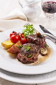 picture of deer meat  - deer meat meddallions - JPG