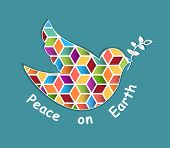 Dove of Peace Mosaic  Esp10
