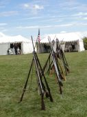 Union Army Rifles, Stacked In Camp poster