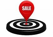 Target sale location