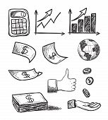 hand drawn business icons