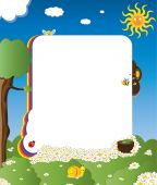 Cartoon Frame With Happy Insects