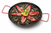 image of negro  - squid ink paella - JPG