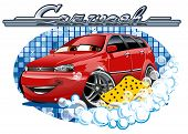 foto of bath sponge  - Car Washing - JPG