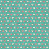 Simply seamless small hearts on turquoise