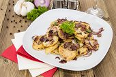 Fried Potatoes With Blurred Ingredients