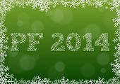 Green Happy New Year 2014 Card