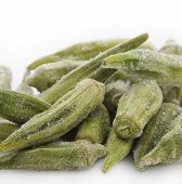 stock photo of okras  - Frozen Okra - JPG