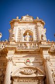 foto of patron  - A detail of the side facade of Lecce - JPG