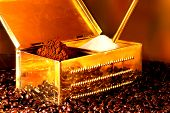 Traditonal box for coffee and sugar