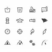camp black icon set on white background