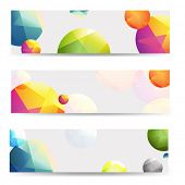 Color Abstract Banners Set, With Gradient Mesh, Vector Illustration