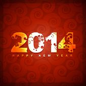 creative 2014 happy new year design