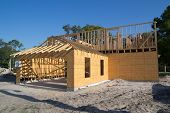 JACKSONVILLE, FL-SEP 1: A new home under construction on September 1, 2013 in Jacksonville, Florida.