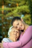 Young And Elderly Women