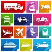 Transport flat icon, bright color-07