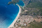 Oludeniz From The Paraglide (bird's Eye View), Fethiye, Turkey