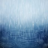 picture of rain  - Background with rain and waves on the drops - JPG