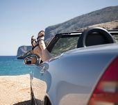 holiday at the seaside car