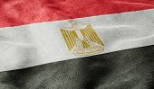 Oblique view of the Flag of Egypt