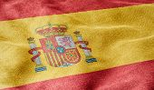 Oblique view of the Flag of Spain
