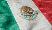 Oblique view of the Flag of Mexico