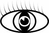Black vector eye symbol illustration