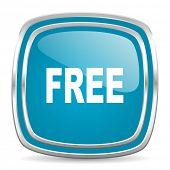 free blue glossy icon