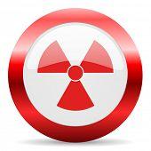 radiation glossy web icon