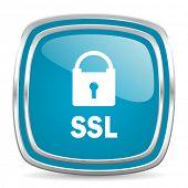 ssl blue glossy icon