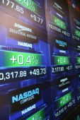 foto of stock market data  - A picture of stocks trading on NASDAQ - JPG